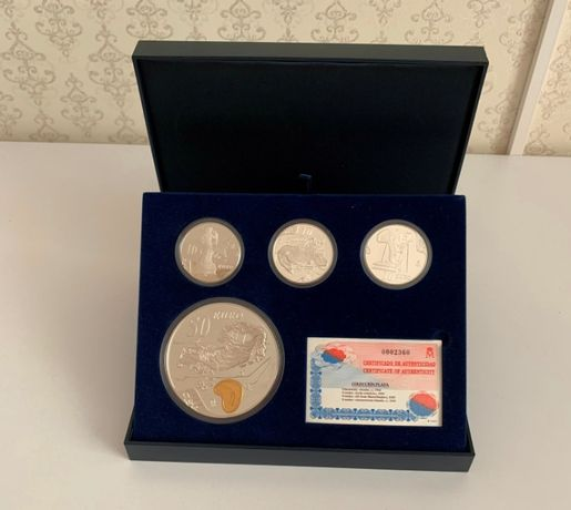 Набор монет, Испания, Сальвадор Дали, Серебро 2004