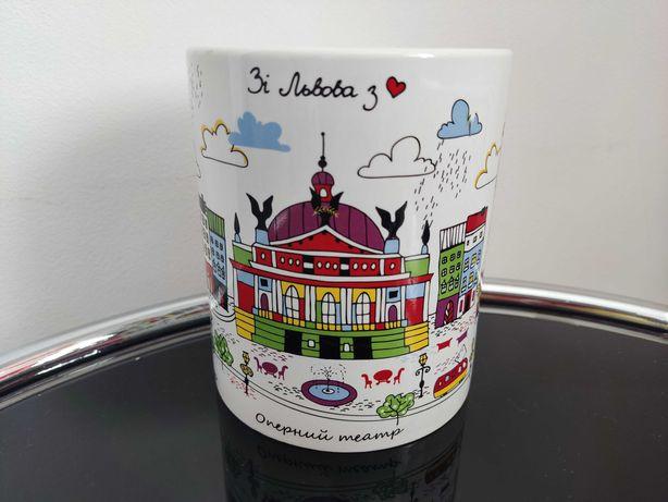 Кружка, чашка сувенирная со Львова 1 л