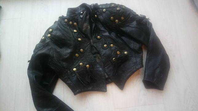 Ramoneska 38/M GAP kurtka skórzana czarna VINTAGE