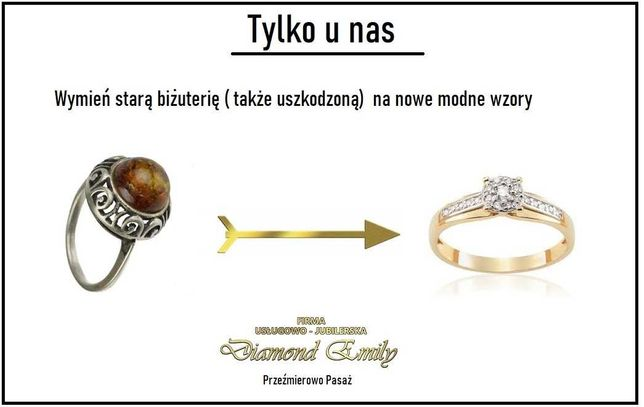Złoto srebro - pierścionek obrączki inne - skup , wymień stare na nowe