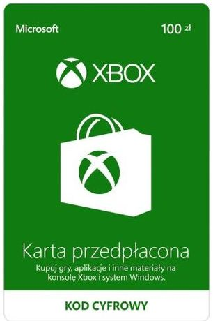 Doładowanie Xbox Live 100 PLN - kod aktywacyjny