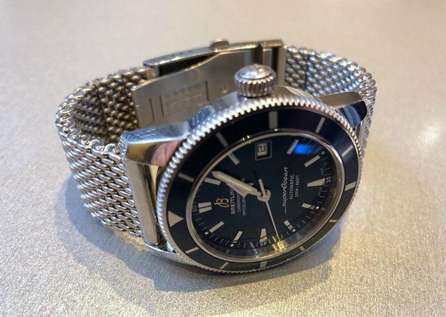 Стальной МИЛАНСКИЙ браслет для часов Breitling, Omega, IWC на 22-24 мм