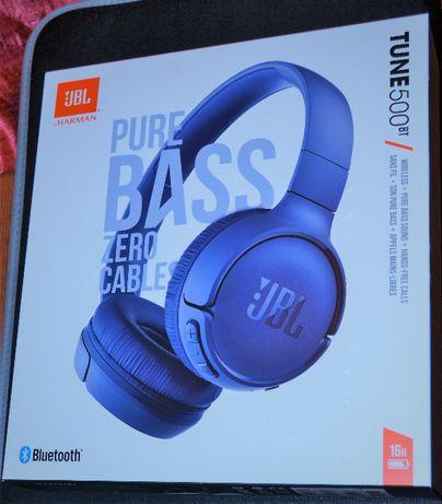Sprzedam tanio słuchawki nauszne BLUETOOTH JBL TUNE T500BT niebieskie