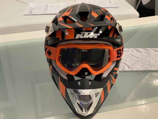 Шлем для мотокросса, эндуро KTM размер М, для кроссового мотоцикла