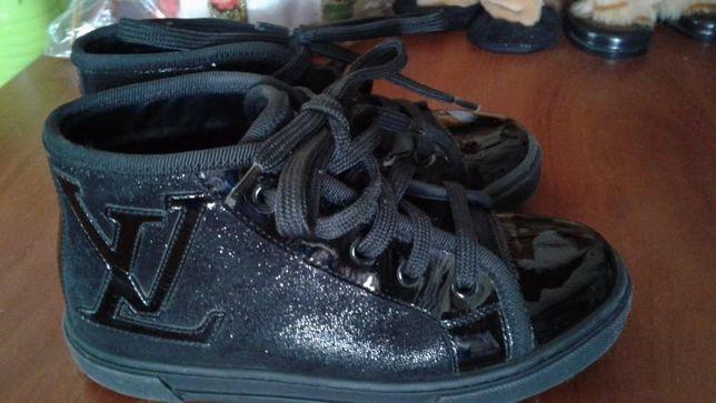 Louis vuitton оригинал кожа туфли-ботинки-сникерсы-кеды 27р(18см)