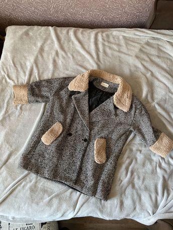 Пальто зимнее oversize