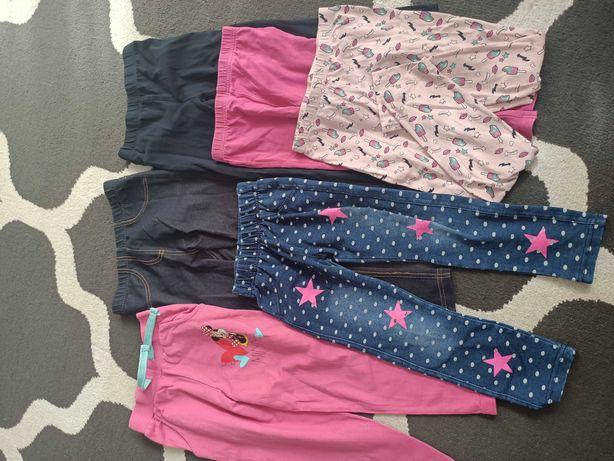 Spodnie leginsy dla dziewczynki 98-104