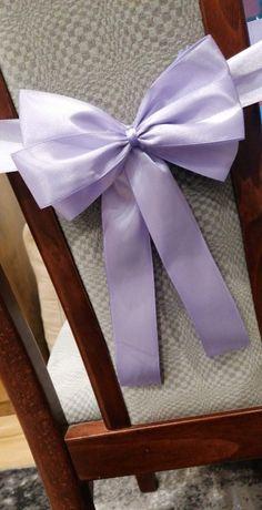 Kokardy na krzesła dekoracje ślubne