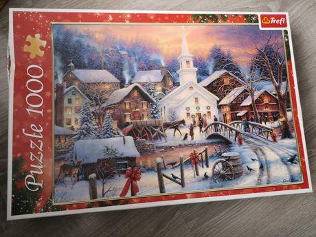 Puzzle Trefl 1000 Motym świąteczny