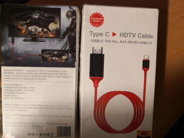 Kabel adapter USB-C TYP C DO HDMI 4K MHL 200cm