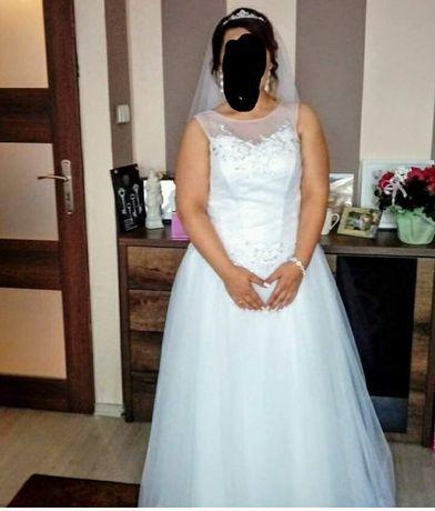 Sprzedam suknię ślubną w rozmiarze 44-46