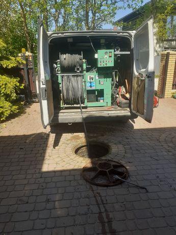 Hydraulik-Udrażnianie kanalizacji ciśnieniowo WUKO,Kamera TV