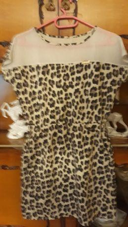 Sukienka tunika panterka