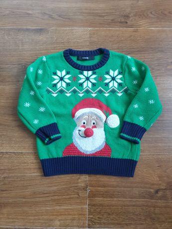 Sweterek GEORGE 80-86 święta Boże Narodzenie Mikołaj wigilia