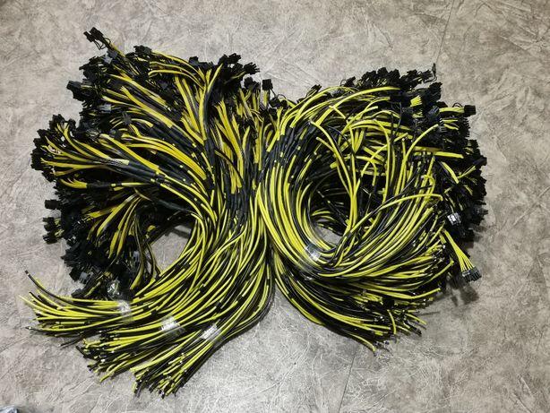Кабель для серверного блока HP 2250 2450 w 70см (6+2)pin 3 хвоста