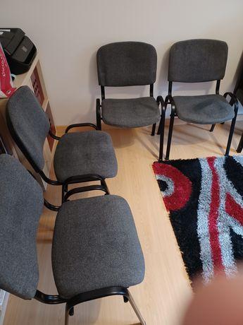 Conjunto 4 cadeiras visitante escritório