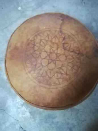 Podnóżek pufa puf marokańska Maroko skóra