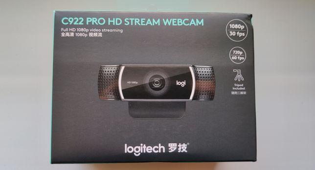 Веб-камера Logitech C922 Pro Stream 1080p/30fps, 720p/60fps