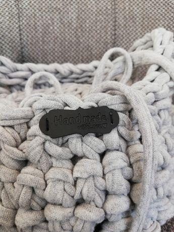 Koszyk koszyczek bawełniany na drobiazgi na prezent handmade