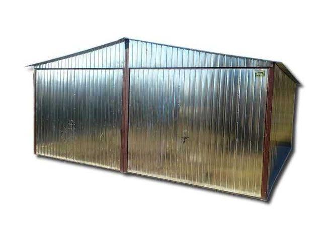Garaż blaszak 6x5 dwuspadowy dach Ocynk