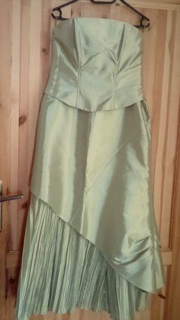 Suknia wieczorowa - rozmiar 40 - dwu częściowa z gorsetem