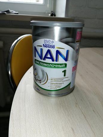 NAN смесь кисломолочная искусственное вскармливание для деток 0+