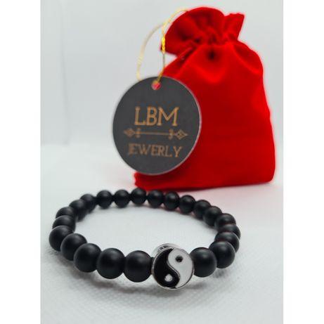 Bransoletka unisex lava stone mat lbm jewerly