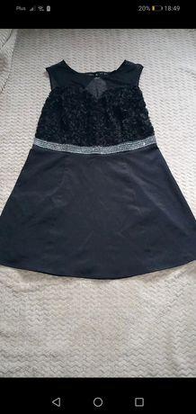 Czarna sukienka 48r