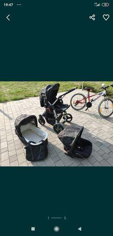 Wózek dziecięcy 3 częściowy z torbą