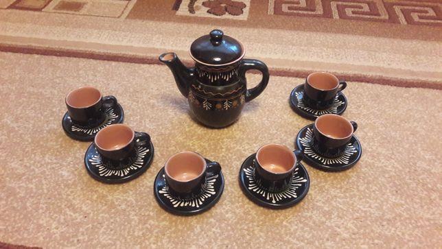 Чайный - кофейный глиняный набор