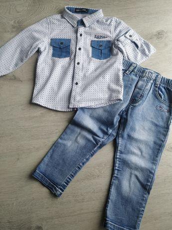 Komplet dla chłopca. Koszula + spodnie /dżinsy
