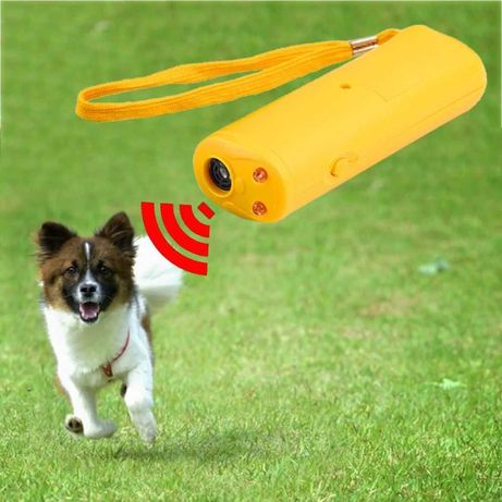 Мощный ультразвуковой отпугиватель собак фонарик Ultrasonic AD100