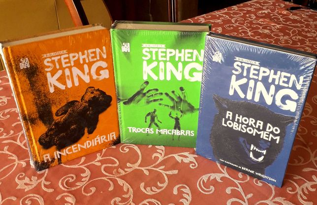 Stephen King - Incendiária/Trocas Macabras/Hora Lobisomen/Brasil NOVOS