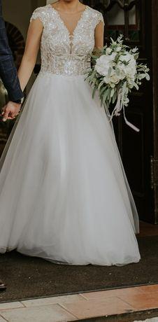 Sprzedam śliczną sukienkę ślubną roz. 36/38