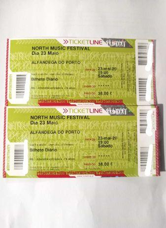 2 bilhetes para o North Music Festival - 2 de outubro - The Script