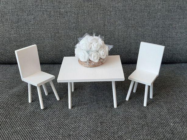 Krzesło fotel stołek dla lalki Barbie stoł meble mebelki domek