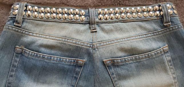 Проклепанные джинсы BALMAIN оригинал!
