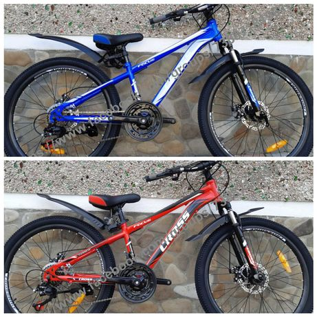 НОВИНКА підлітковий велосипед CROSS FOCUS DD колеса 24 26 ШІМАНО