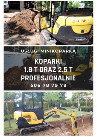 Usługi minikoparką minikoparka Piaseczno Magdalenka Tarczyn Konstancin
