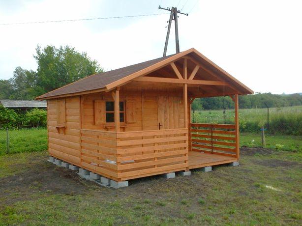 Domek na działkę, drewniany rekreacyjny ogrodowy działkowy 4x5m taras