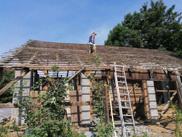 Rozbiórki stodół budynków drewnianych stare drewno rozbiórka stodoły