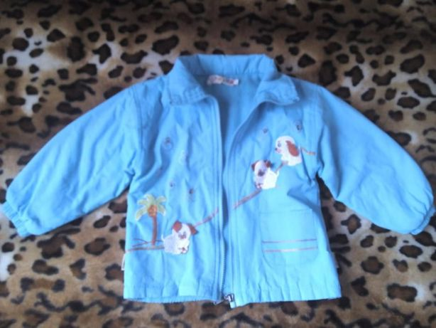 Демисезонная куртка на байке унисекс 2-4г