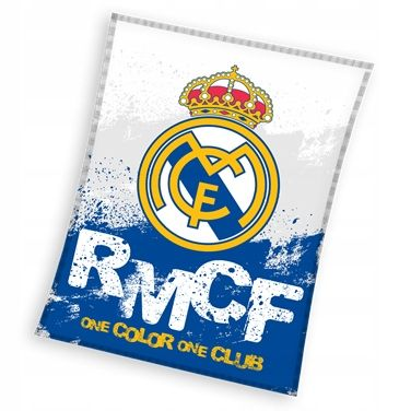 Koc Narzuta 130x160 Real Madryt Madrid Mikrofibra