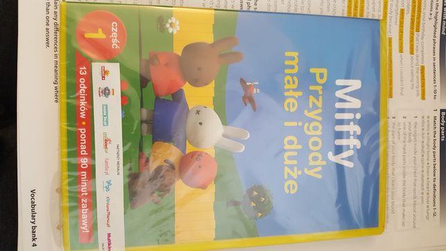 Płyta dvd z bajką dla dzieci Miffy przygody małe i duże.
