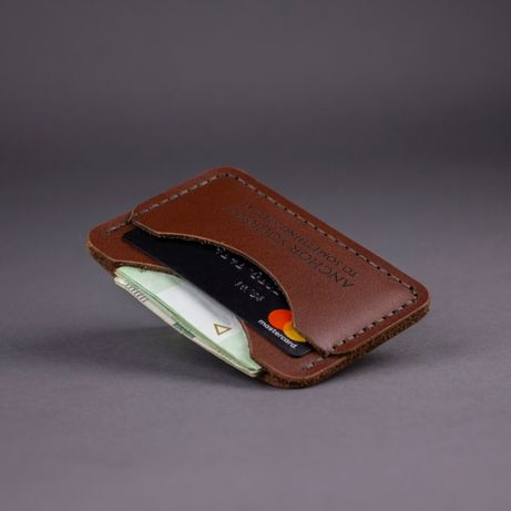 Кожаный Кардхолдер C-One - (Мини кошелёк, Картхолдер, Визитница)