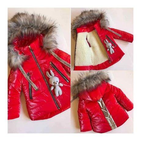 Курточка зимова на дівчинку 4-5 років
