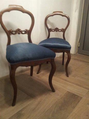 Krzesła ludwikowskie po renowacji Ludwik Filip
