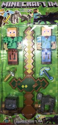 Zestaw 2 Figurek Minecraft Brązowy Miecz Zabawka
