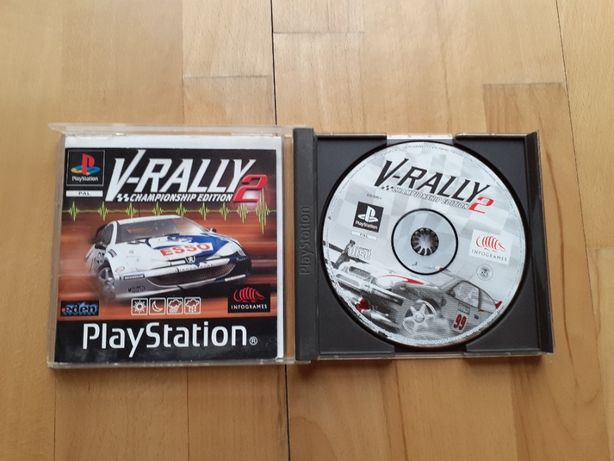 Gra V-RALLY 2 PS2 + grube pudełko i książka