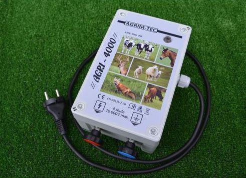 Pastuch elektryczny sieciowy AGRI-4000 bydło,wydry,dziki,owce